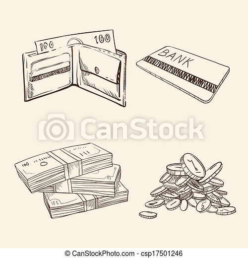 Free Money Drawings Vector Old Vintage Drawing