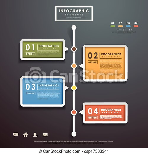abstract flow chart infographics - csp17503341