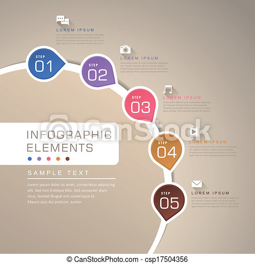 abstract flow chart infographics - csp17504356