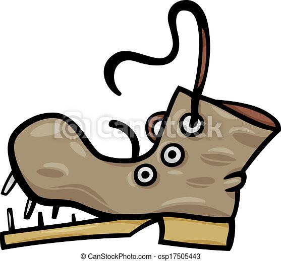 old shoe or boot cartoon clip art - csp17505443