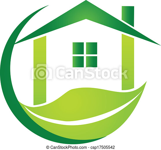 Green House With Leaf Design