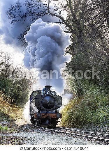 train, vapeur - csp17518641