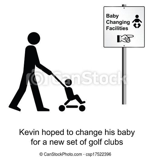 Baby changing - csp17522396