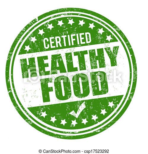 Healthy food stamp - csp17523292