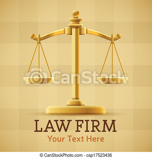 Law Firm Justice Scale - csp17523436