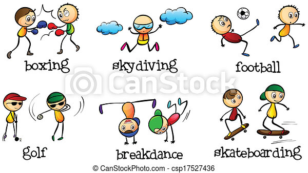 Vectors Of Activities That Can Be Done Indoor And Outdoor -... Csp17527436 - Search Clip Art ...