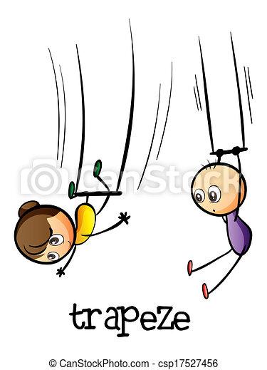 clipart vector van trapeze  tonen illustratie  van  een flying trapeze clipart Flying Trapeze