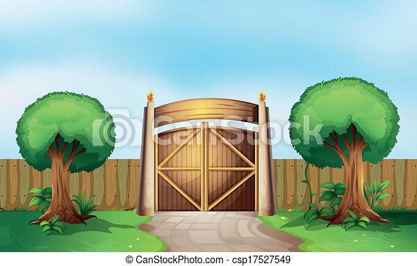 A gated park - csp17527549