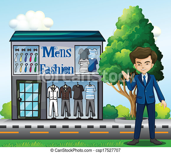 Business Owners Clipart a Business Owner Outside The
