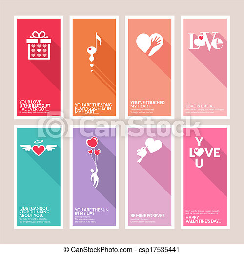 Set of Valentines day cards - csp17535441