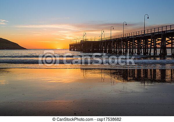 Beach of Coffs Harbour Australia sunrise - csp17538682