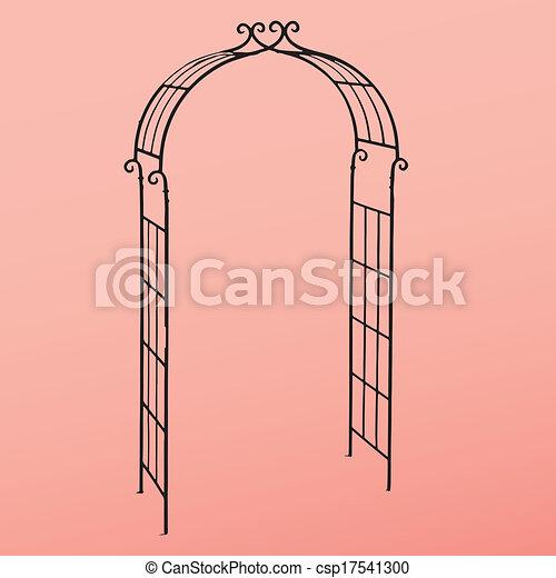 Vector Clipart of Steel Arbor - Openwork design to decorate the ...