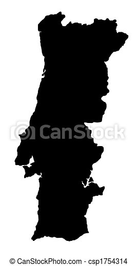 Dessin de carte portugal contour carte de pays de - Dessin du portugal ...