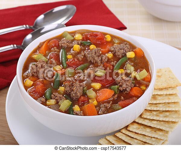 Vegetable Soup - csp17543577