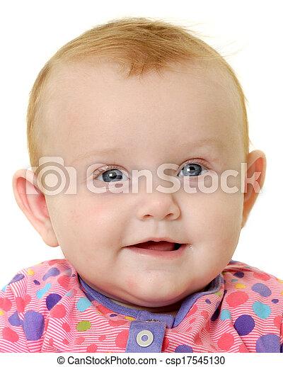 Happy baby face - csp17545130