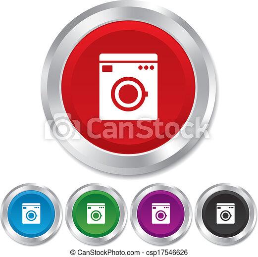 vecteur lavage machine ic ne maison appareils symbole banque d 39 illustrations. Black Bedroom Furniture Sets. Home Design Ideas
