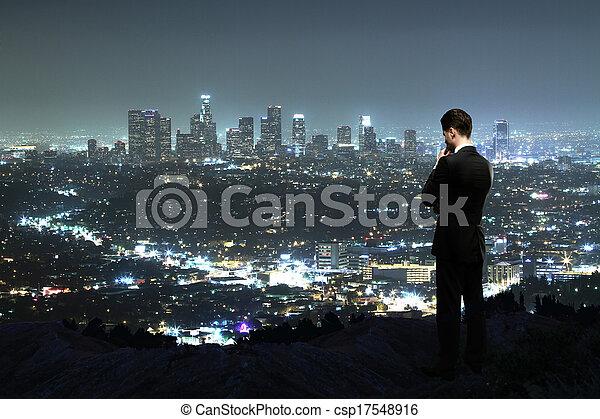 cidade, noturna - csp17548916