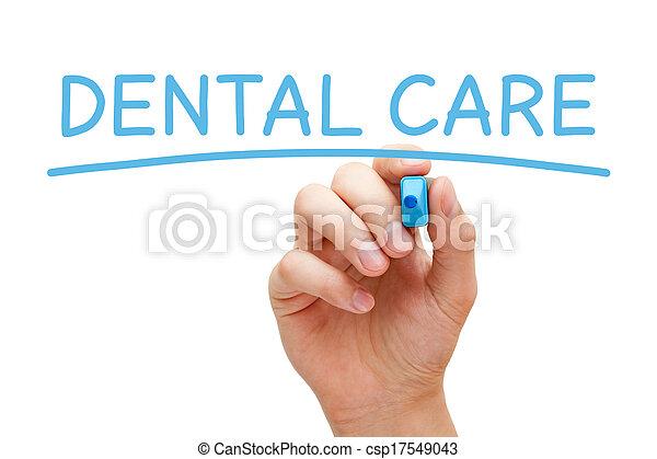 Dental Care Blue Marker - csp17549043
