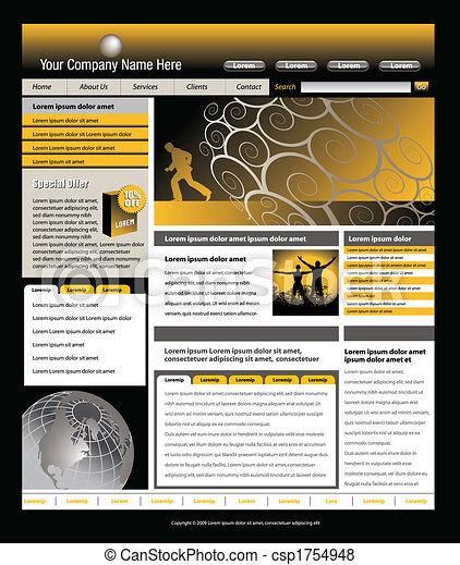 website vector template  - csp1754948