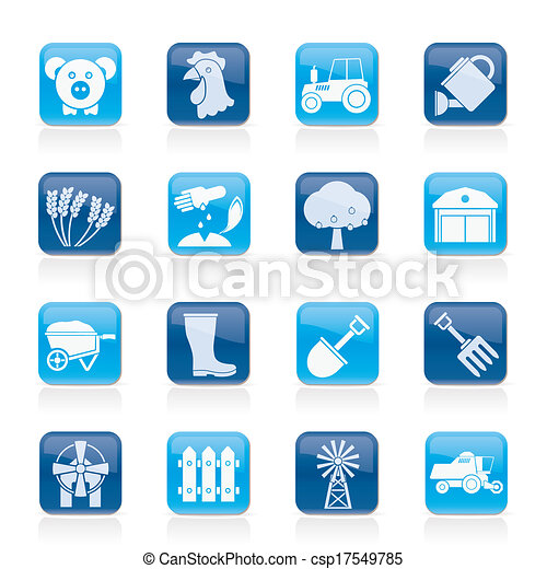 Agriculture and farming icons - csp17549785