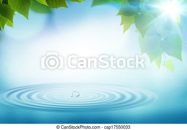Summer rain, abstract environmental backgrounds for your design - csp17550033