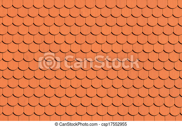 Red roof tile pattern - csp17552955