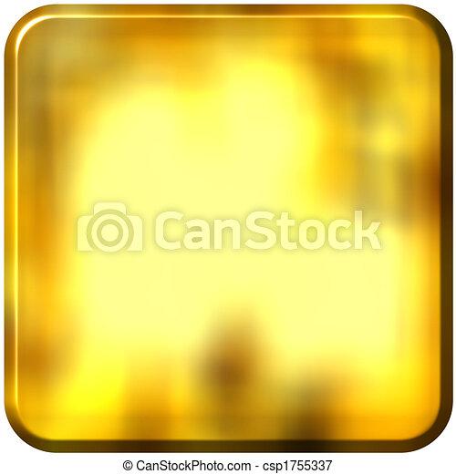 Stock de Ilustraciones - 3D, dorado, cuadrado, redondeado, bordes ...
