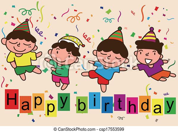 eps vectors of happy birthday cartoon celebration happy birthday four boy csp17553599 aqua zumba logo vector logo zumba vectorizado gratis