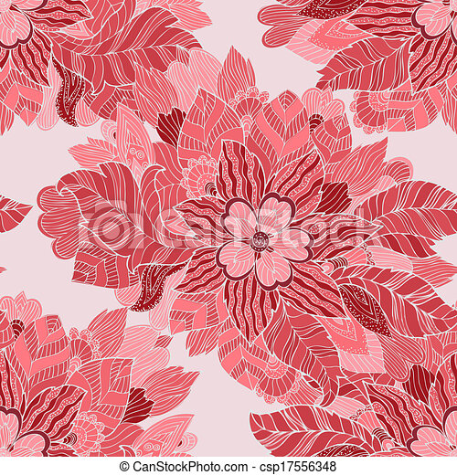 Seamless texture of fashion floral ornament - csp17556348