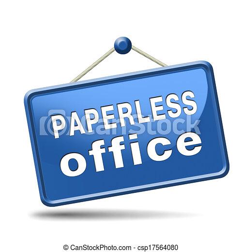 paperless office - csp17564080