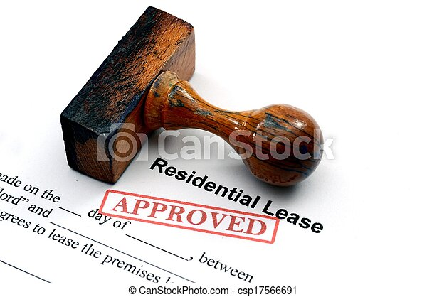 Residential lease - approved - csp17566691