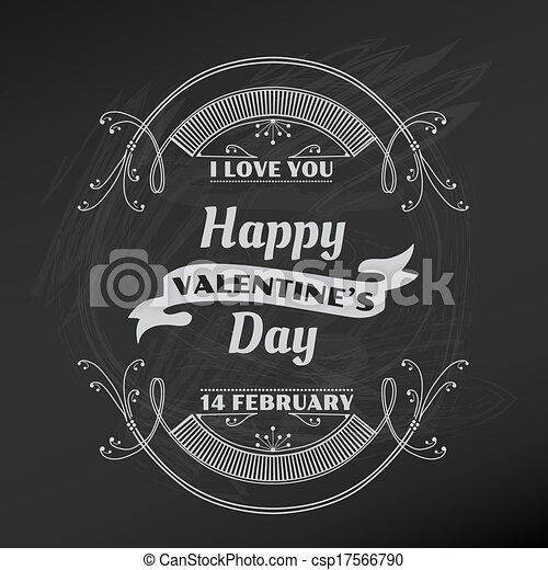 Valentine's Day Card - for scrapbook and design in vector - csp17566790