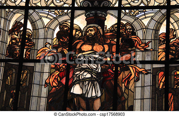 Stock Photography of Stained-glass window at Church of the ...