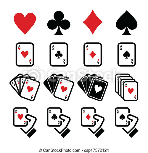 Playing cards, poker, gambling icon - csp17572124
