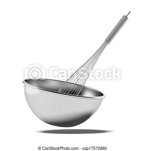 Clipart  Baking whisk and bowl