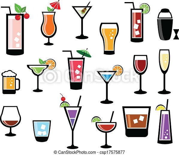 Cocktail Logo Vector Cocktail Vector Set