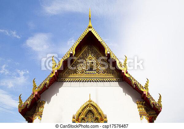 Temple Sky - csp17576487