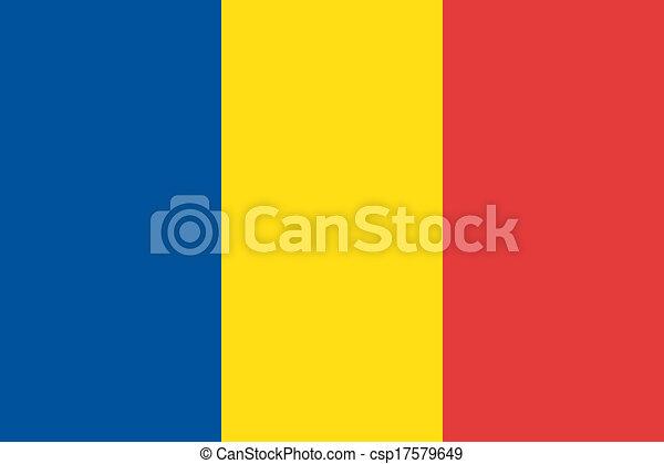 Romania flag - csp17579649