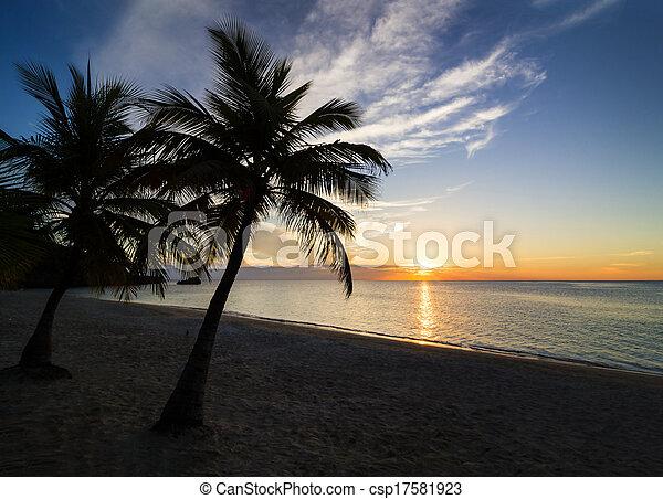 playa puesta sol - csp17581923