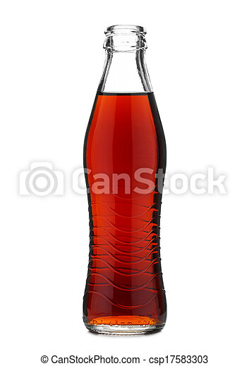 Stock Photography of Open glass bottle with soft drink cola or ...