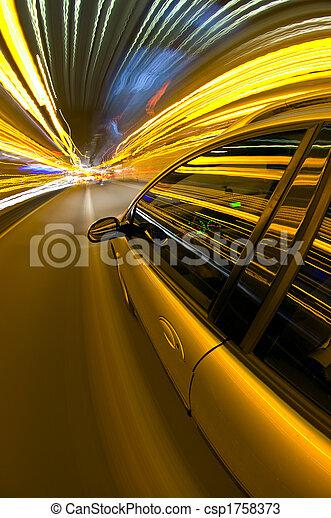 Night time Driving - csp1758373