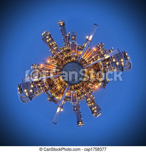 Fossil Fuel Sphere - csp1758377
