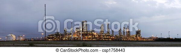 Petrochemical industry at dawn - csp1758443