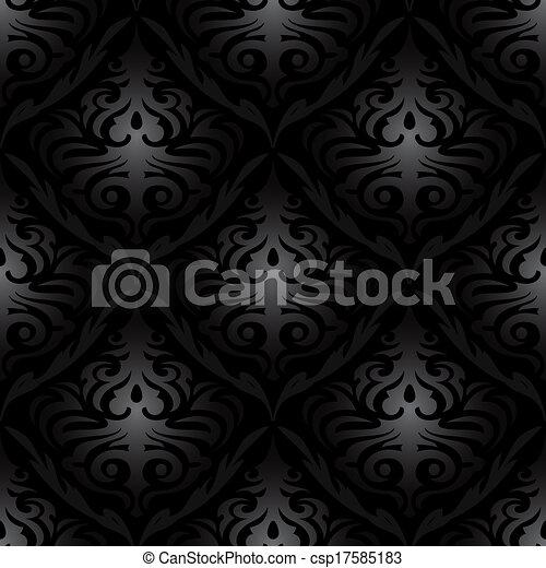 vektor von seamless schwarz seide tapete muster seamless csp17585183 suchen sie nach. Black Bedroom Furniture Sets. Home Design Ideas