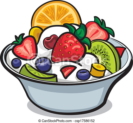 fresh fruit salad - csp17586152