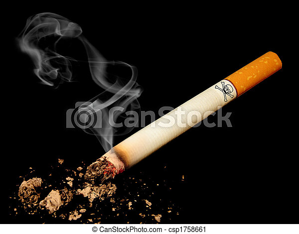 Cigarette with skull - csp1758661