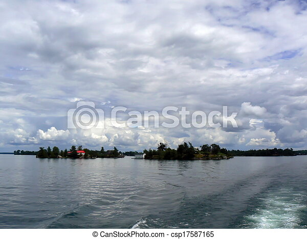Thoudand islands, Ontario lake, Canada - csp17587165