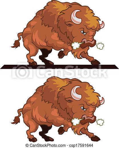 Bison Mascot Clipart