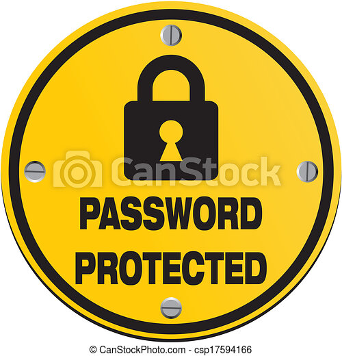 Secure Password Clip Art