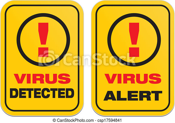EPS Vector of virus alert, virus detected - suitable for warning ...